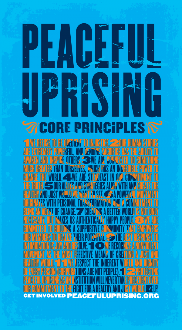 Peaceful Uprising Core Principles Poster