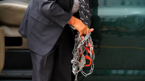 Tim's chains and handcuffs
